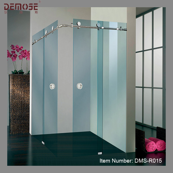 Hotel Three Panel Sliding Glass Shower Door Hardware
