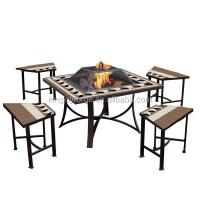 Kingjoy-garden Table Fire Pit Set/ Patio Furniture/outdoor ...