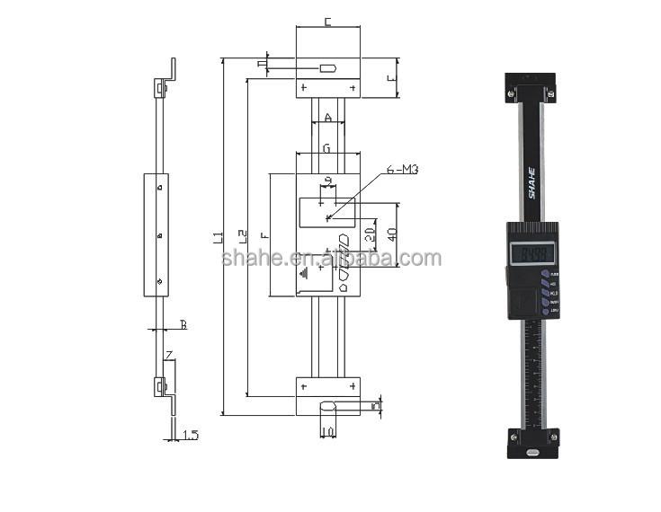 Vertical Digital Linear Scale 0-300mm Digital Vernier