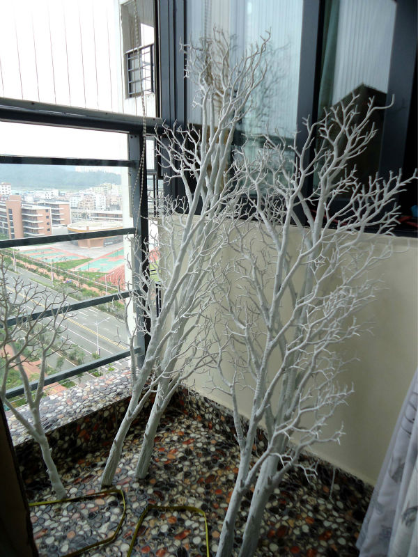 WTR1102 GNW 4 ft high dry tree branch decoration for crystal wedding centerpiece used white
