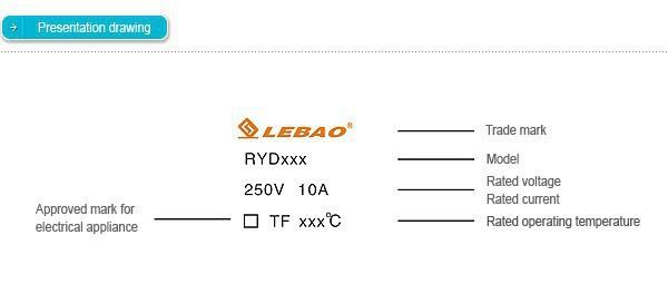Fusible Thermique  250V 10A 2 Bagues de sertissage RY TF 98°C
