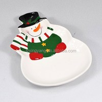 Wholesale christmas ceramic plate, christmas salad plates ...