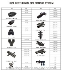 Butt Fusion Hdpe Pipe Fitting Equal Tee Polyethylene Pipe ...