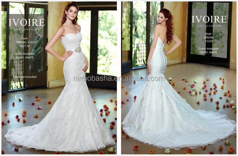 Sexy 2014 Backless Wedding Dress Sweetheart Long Mermaid