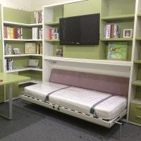Horizontal Single Murphy Bed,Space Saving Modern Wall Bed ...