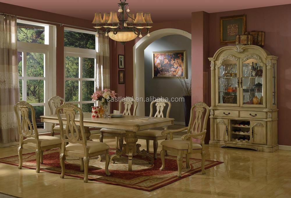 Blanco antiguo juego de comedor de madera inicio  hotel muebles de comedorSets para Sala ComedorIdentificacin del producto60186288210