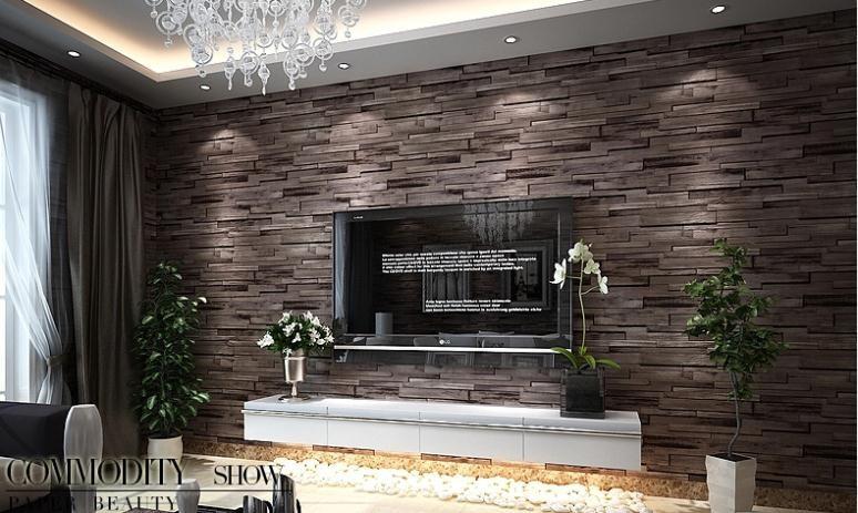 wohnzimmer steinwand tapete dumss com | designmore - Tapete Wohnzimmer Anthrazit