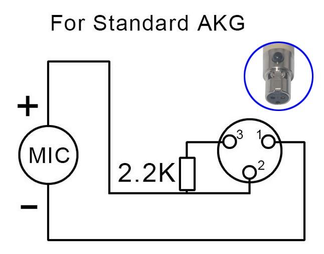 XLR-3 Haute Qualité Instrument Microphone Alimentation