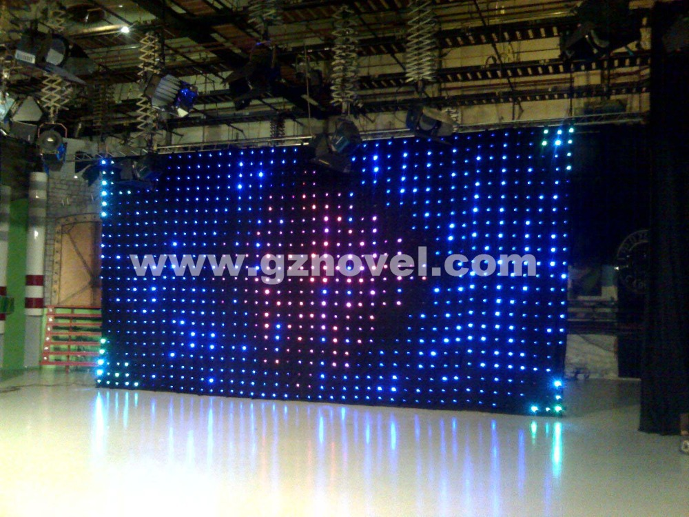 Hicool Cheap Led Backdrop Curtain Lights Color Changeable
