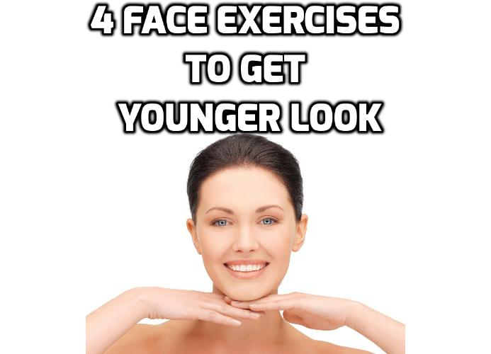 4 Face Exercises to Get a Natural Facelift Without Surgery - If you are looking for natural ways to look younger, to eliminate wrinkles, here are 4 face exercises you can try immediately and 2 video clips demonstration about facial exercises.