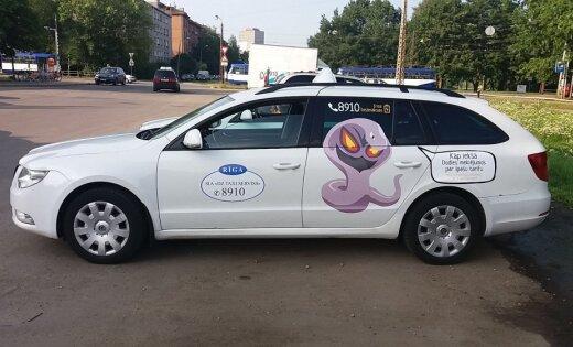 ФОТО очевидца: В Риге появилось покемон-такси