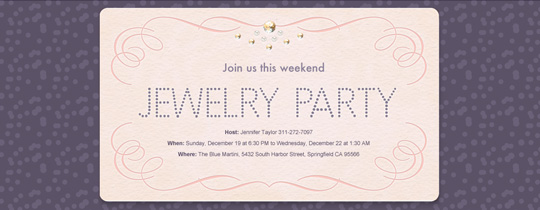 invitation jewelry party Chatterzoom – Jewelry Party Invite Wording