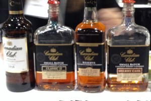 Canadian Club has an impressive line up: with the Standard Canadian Club, Small Batch 12 Year Old, Reserve Aged 9 Year Old and a very tasting Small Batch Sherry Cask.