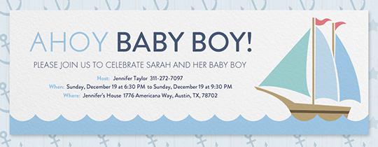 Ahoy Baby Shower Invitation Free