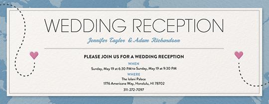 Destination Reception Invitation