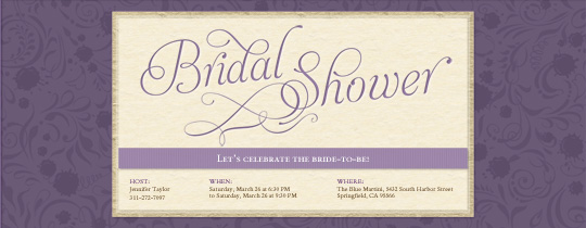 Bridal Shower Invitations Yellow And Grey