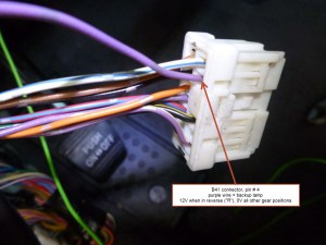 Installing a backup camera  which harness wire indicates backup light or