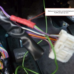 Dodge Caravan Radio Wiring Diagram 1966 Corvette Ignition Installing A Backup Camera -- Which Harness Wire Indicates Light Or