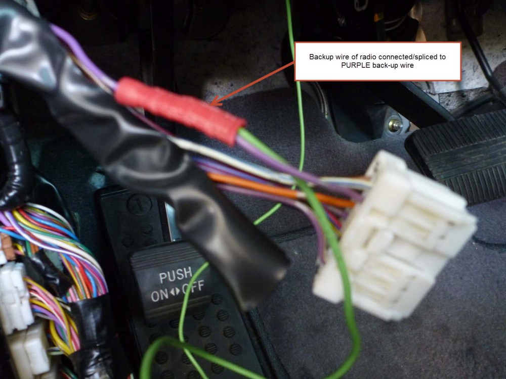 medium resolution of installing a backup camera which harness wire indicates backupreverse wire harness 19
