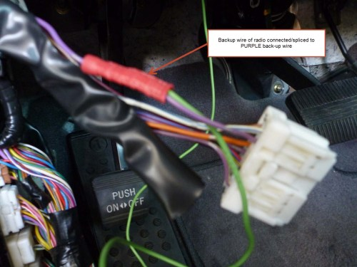 small resolution of installing a backup camera which harness wire indicates backup light or quot r quot