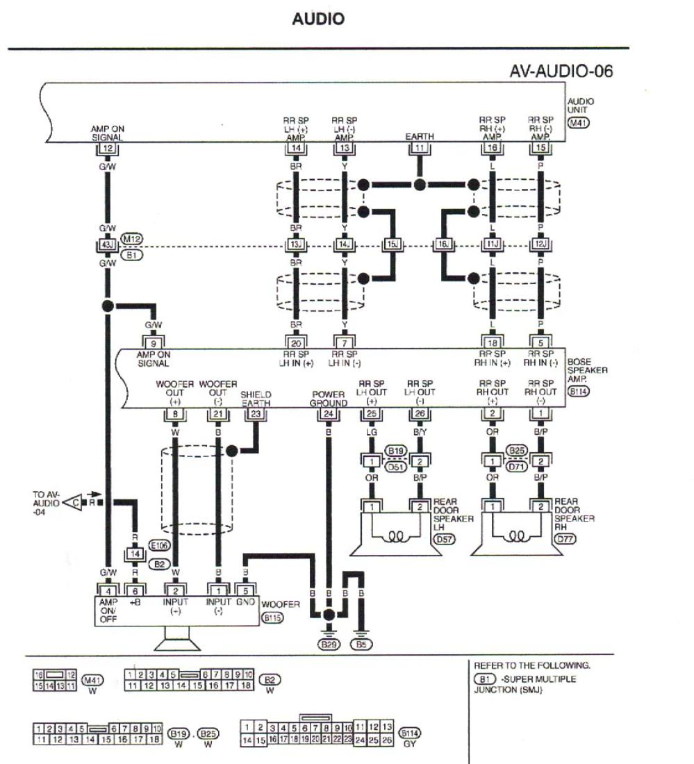 medium resolution of 2006 infiniti m35 bose amp diagram wiring diagram priv 2006 infiniti m35 bose amp diagram