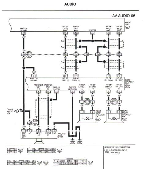 small resolution of 2006 infiniti m35 bose amp diagram wiring diagram priv 2006 infiniti m35 bose amp diagram