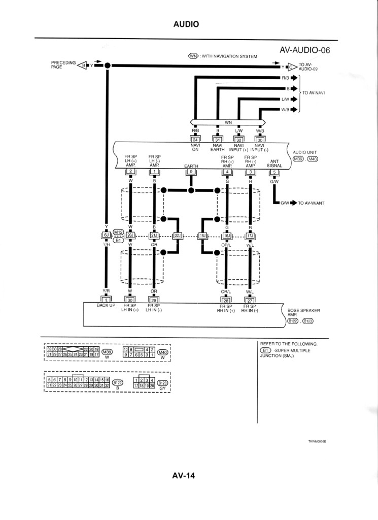 R129 Bose Car Amplifier Wiring Diagram, R129, Free Engine