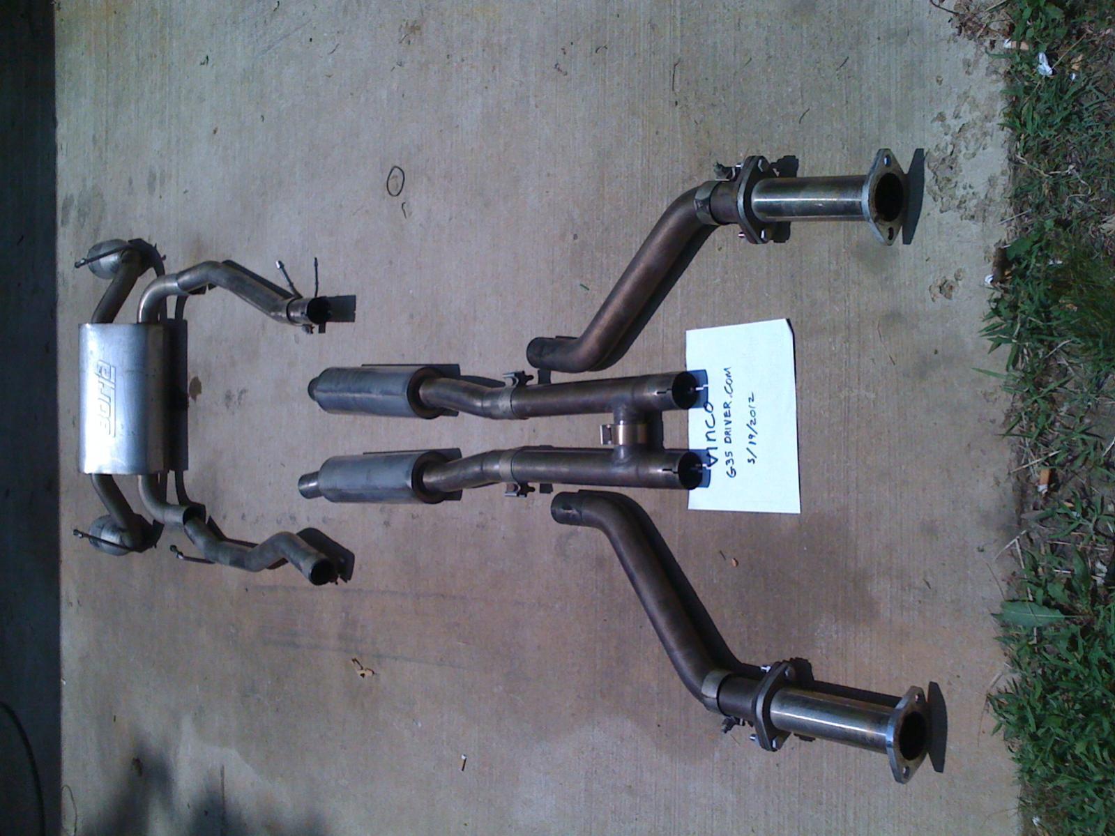 fs borla true dual exhaust g35c 350z
