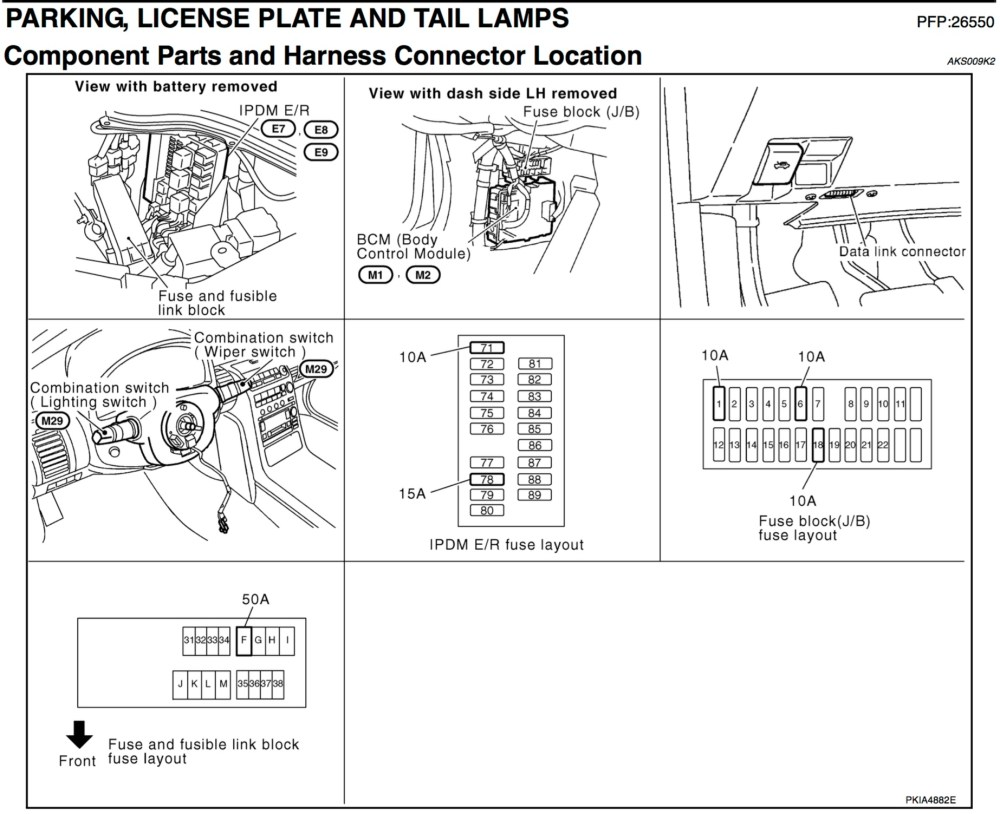 medium resolution of dimmer switch including taillights when headlights go on not infiniti g35 fuse box diagram