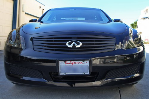 small resolution of blacked out grille headlights and taillights