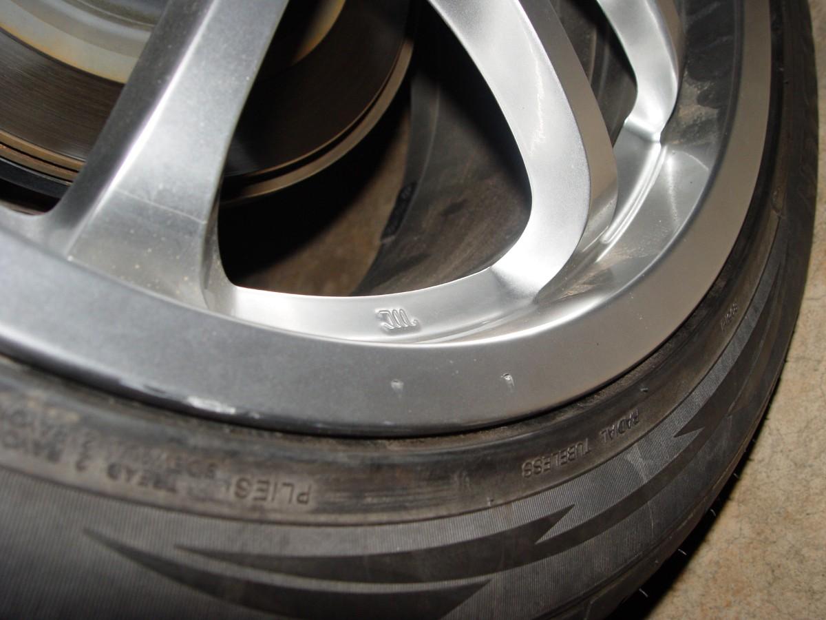 tire place gouged my rim refinish wheel pics of damage