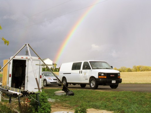 Packer Testing Trailer Under the Rainbow