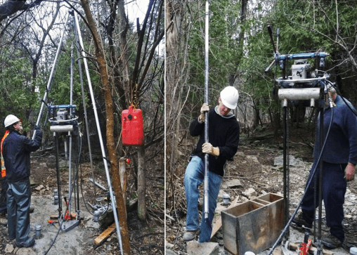 Portable Drilling in the forest