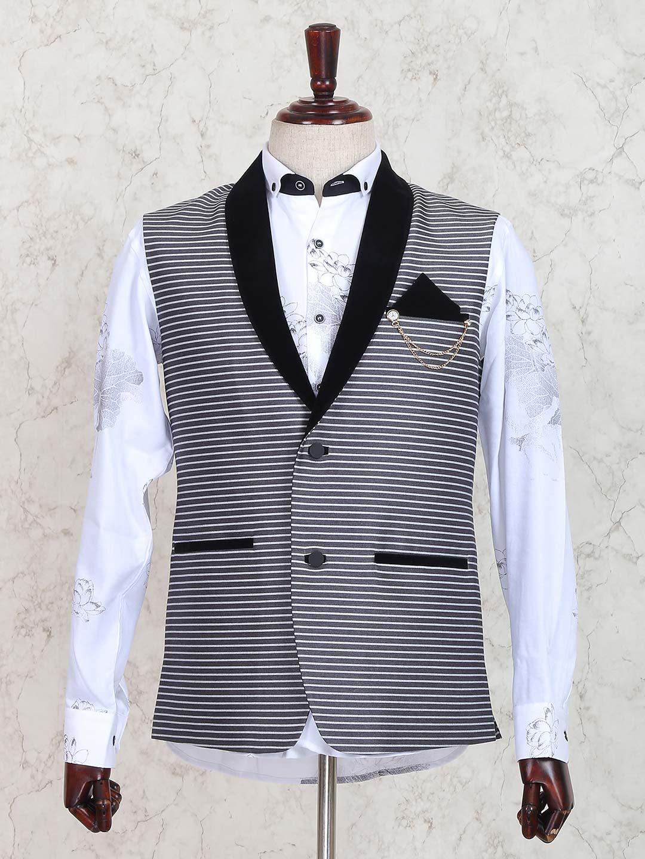 Waistcoat Pattern : waistcoat, pattern, Stripe, Pattern, Terry, Rayon, Waistcoat, G3-MWC1298, G3fashion.com