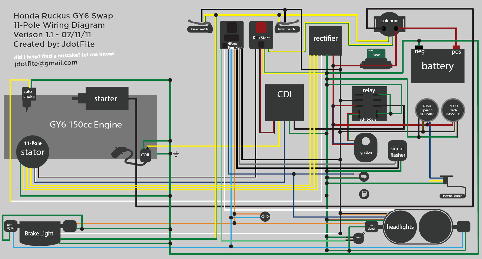hight resolution of ruckus gy6 swap wiring diagram wiring diagram for a gy6 swap with honda ruckus