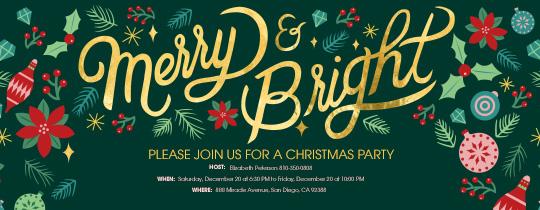 Merry Bright Invitation