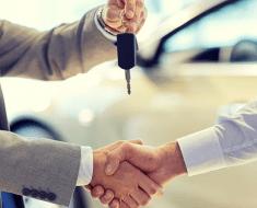 Entrega de chaves do carro novo