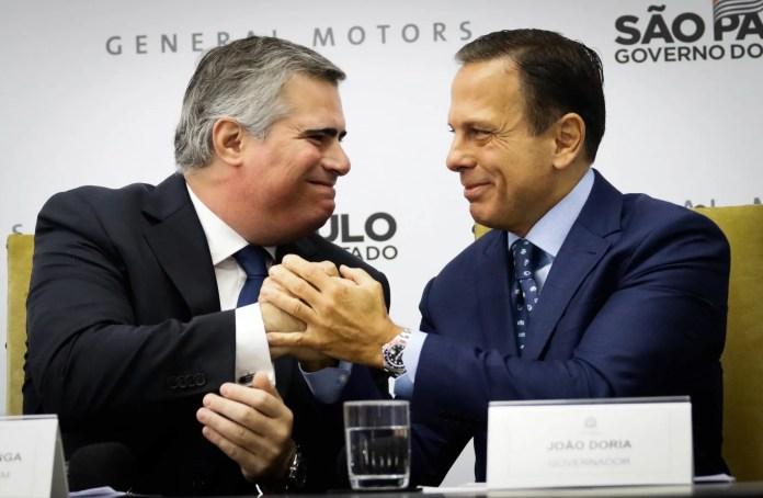 Carlos Zarlenga e o Governador João Dória na reunião do investimento de 10 bilhões