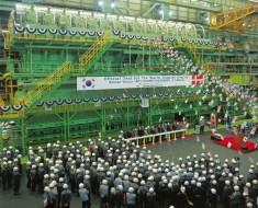 14RT-flex96C, o maior motor e Diesel no mundo saindo da linha de produção