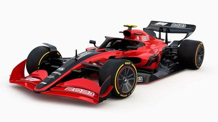 Conceiro do novo carro F1 2022 apresentado em 2019