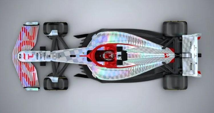 O carro da F1 de 2022 tem linhas mais simples