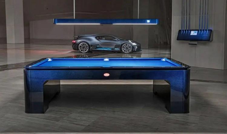 Mesa de sinuca da Bugatti de R$ 1.500.000,00