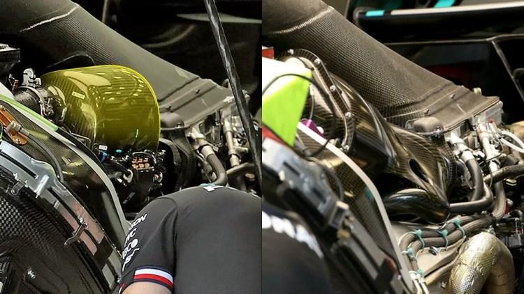 Plenum no motor F1 Mercedes