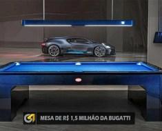 MESA DE SINUCA DE R$ 1,5 MILHÃO DA BUGATTI