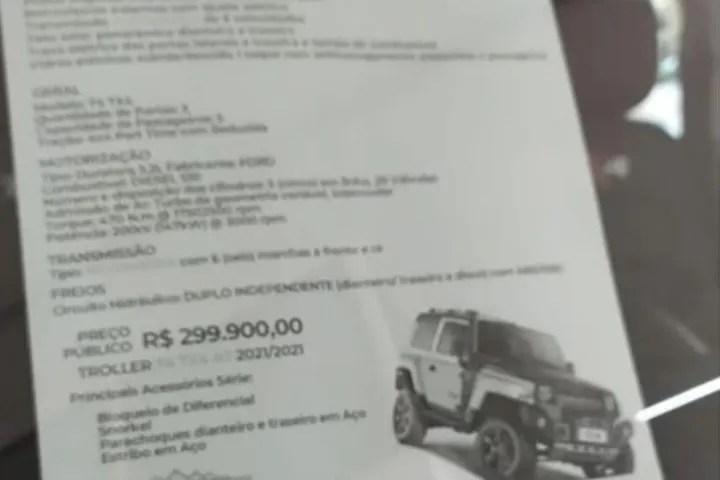 ULTIMO TROLLER T4 PRODUZIDO