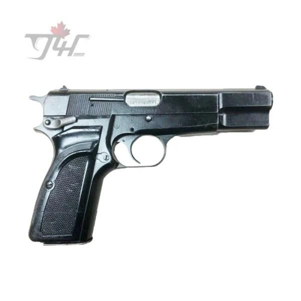 """Browning Hi-Power Mark 2 Surplus 9mm 4.7"""" BRL Black"""