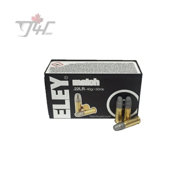Eley Match .22LR 40gr. Patented Flat Nose 50rds