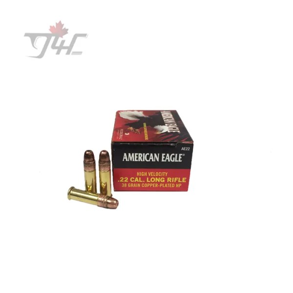 Fed. American Eagle .22LR High-Velocity 38gr. CHP 40rds
