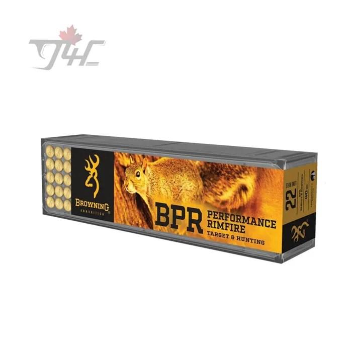 Browning BPR .22LR Performance Rimfire 40gr. HP 100rds