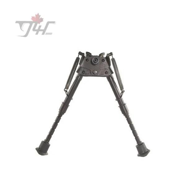 Harris Series S Bench Rest Pivot Bipod 6'' - 9'' w/ Leg Notch & Swivel Stud Mount